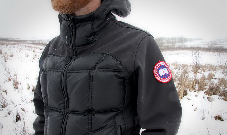Man wearing Canada Goose Hybridge Hoody