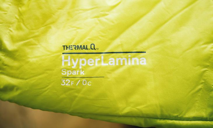 Close-up image of Mountain Hardwear HyperLamina Spark 35 Sleeping Bag
