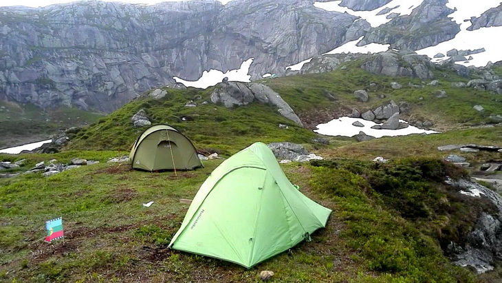 Naturehike Ultraight 2 Tent in Windy Conditions at the Norwegian Fiords