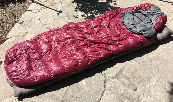NEMO Rhumba Women's Sleeping Bag on the ground