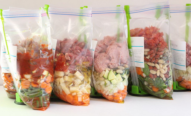 No-Cook Freezer Meals on a White Table