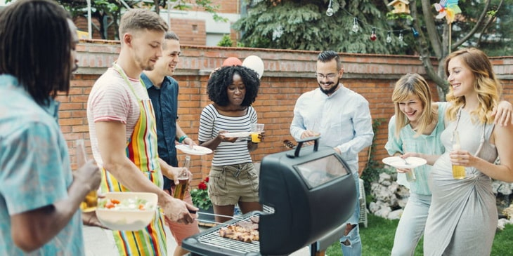 Outdoor Barbecue with Friends