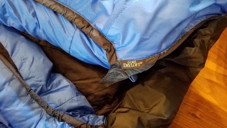 Close-up of Puma Gore WS Sleeping Bag