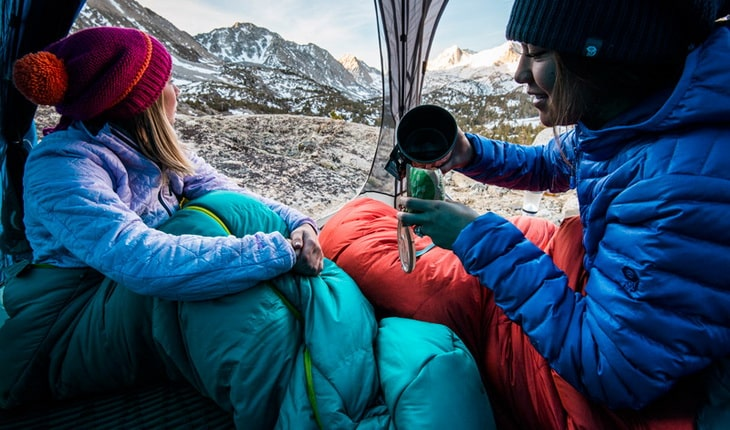 Two Womens in Sleeping Bag Liners