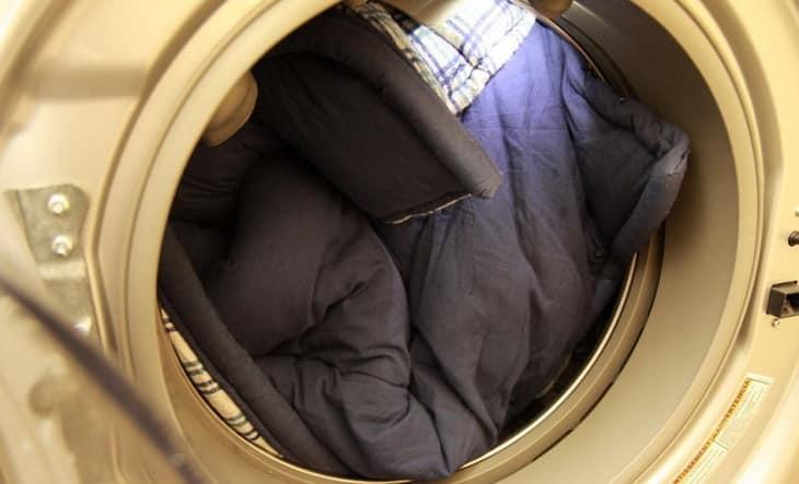 Sleeping bag in washing machine