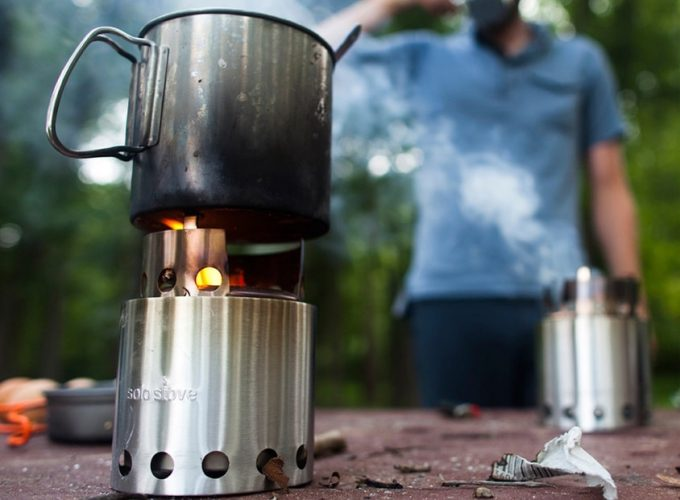 Solo camp stove burning the pot