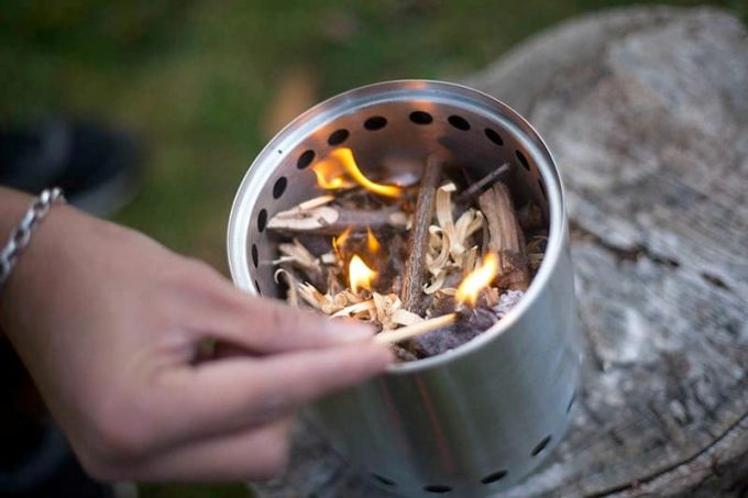 Solo stove fuel source
