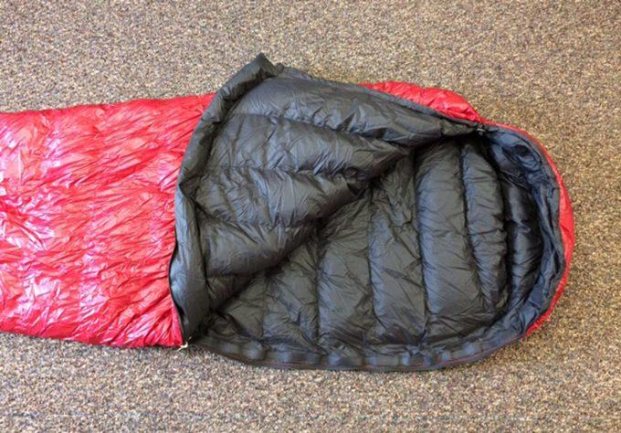 Summerlite sleeping bag unzipped