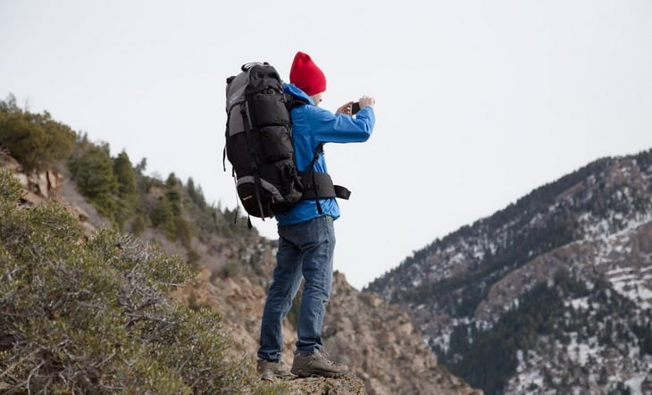 Man with a Teton Explorer 4000 backpack