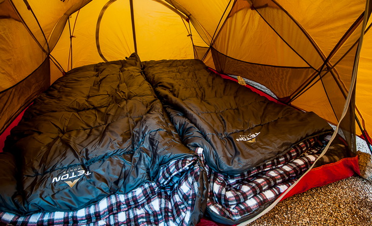 Teton Sports Sleeping Bags in a tent