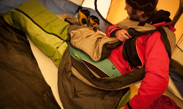 Hiker in a Teton_MP-272 tent