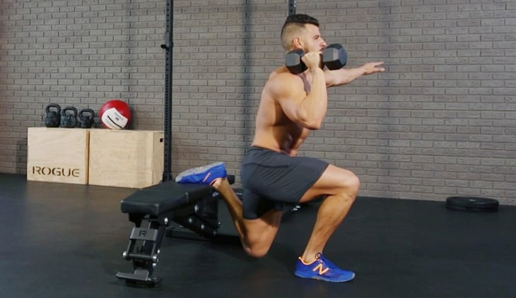 Man Performing The Right Way The Bulgarian Split Squat Burner Exercise