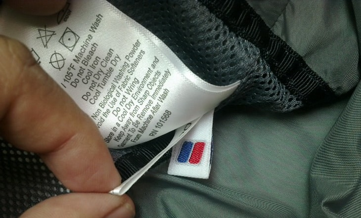 Label of The North FaceTNF Berghaus Craghoppers Goretex Gore-Tex Hyvent