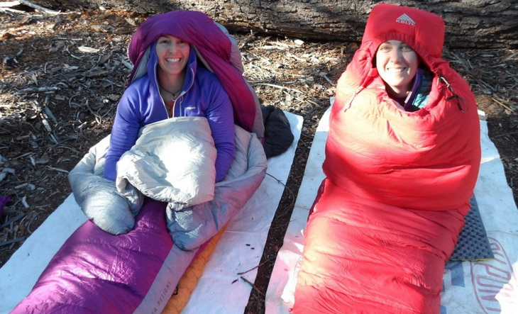 The Sierra Designs Women's Backcountry Bed 600(left) has more room for your arms