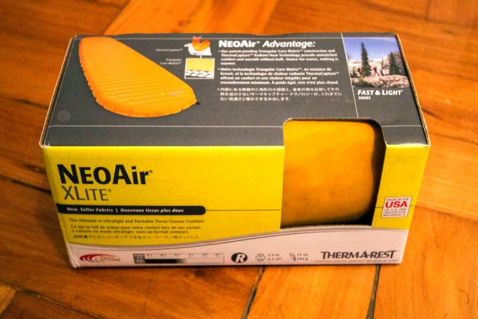 Therm-a-Rest NeoAir XLite packaging
