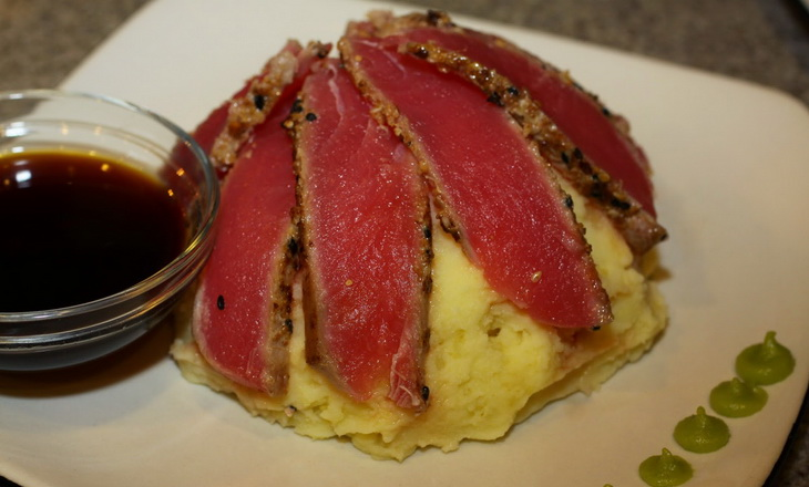 Wasabi Mash with Tuna