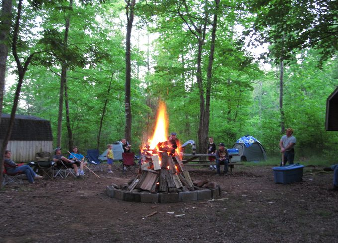 Camping site in Alabama