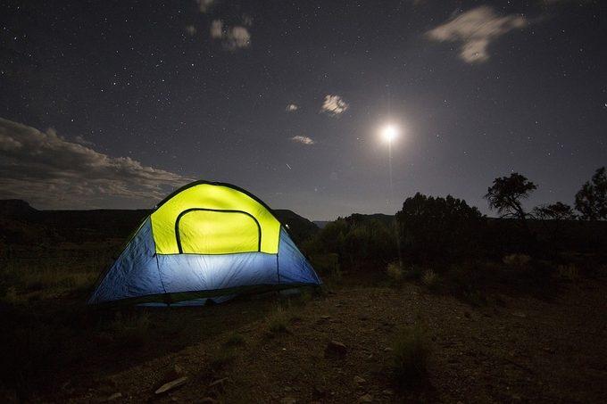 Camping in alabama at night