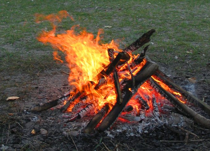 An image showing a campfire