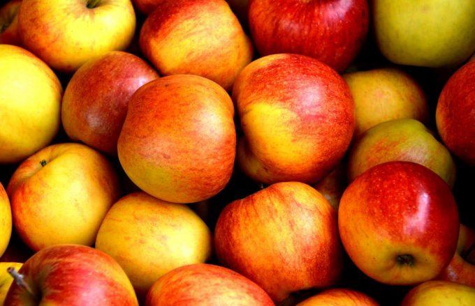 A bundle of fresh apples