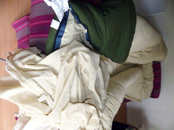 sheet inside sleeping bag