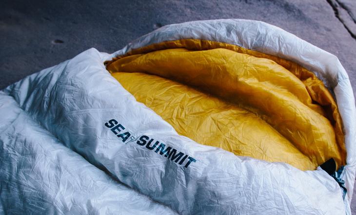 Close-up of Sea to Summit Spark SP III Sleeping Bag
