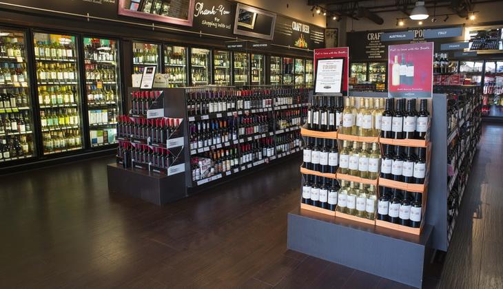 Inside a Liquor Shop