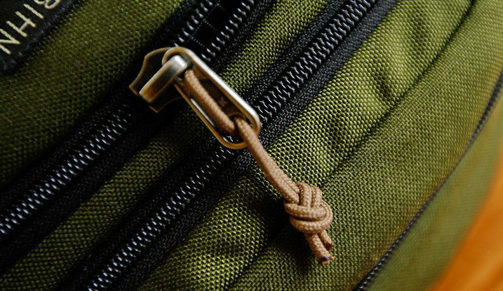 close-up image of a zipper