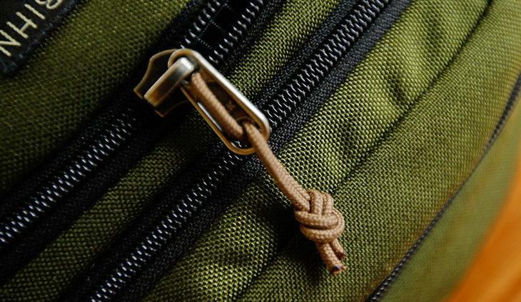 close-up image of a zipper