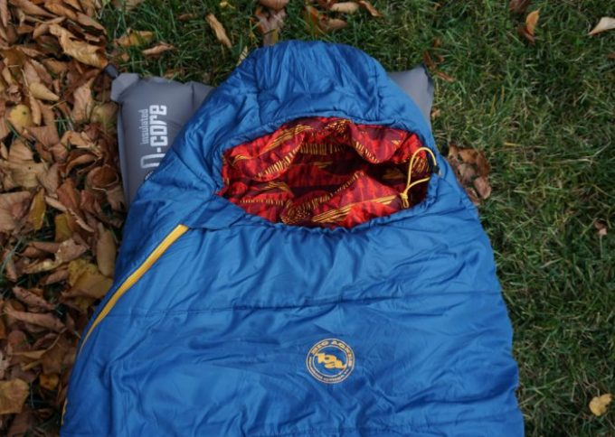 cold synthetic sleeping bag