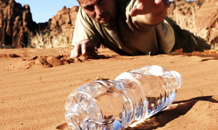 dehydrated person laying on the ground