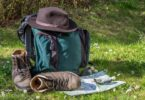 A hiking boots, backpack and other must haves