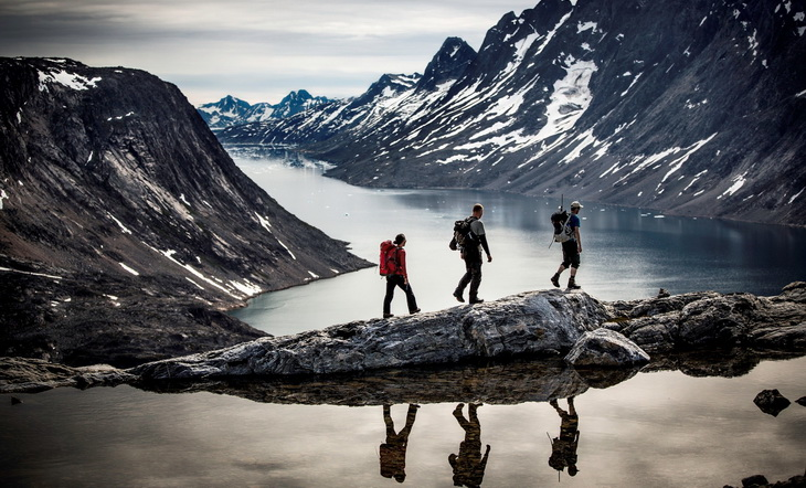 hiking in Greenland