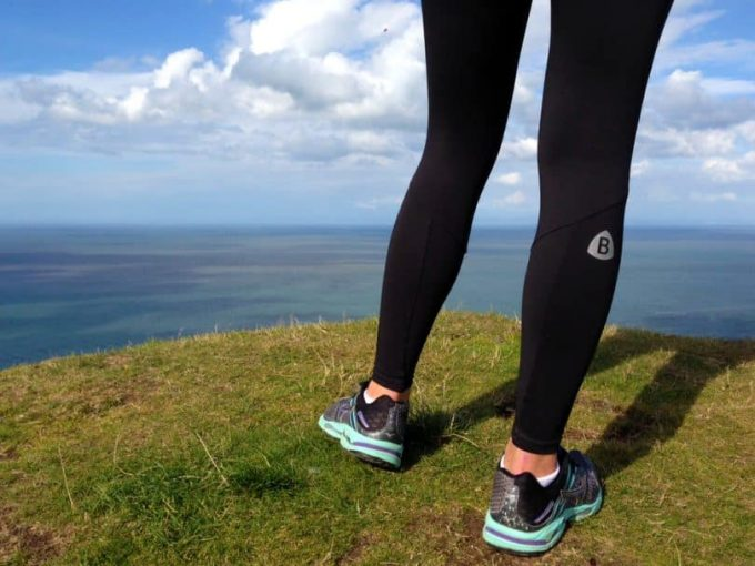 Image showing a woman hiking-leggins
