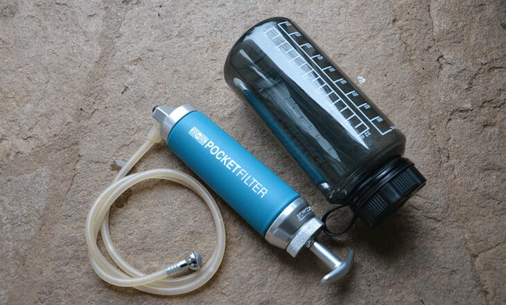 Poket filtrer and a water botle