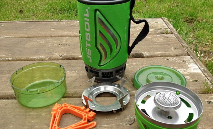 jetboil-flash-components on the table