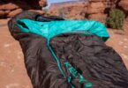 Kelty sleeping bag on the ground in the Canyon