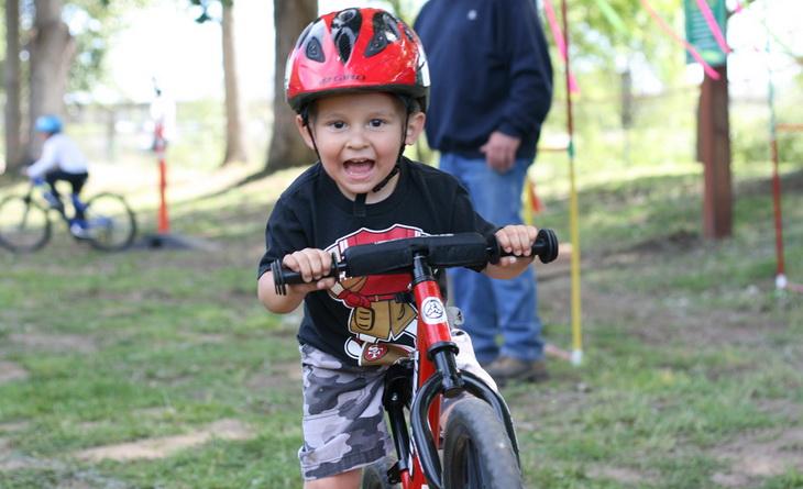 Little kid on a bike