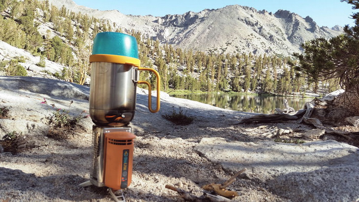 Cooking on BioLite Stove in the wild