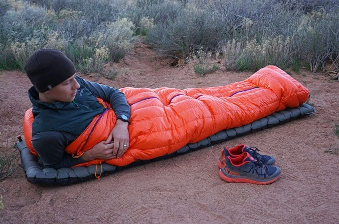 man-in-down-sleeping-bag