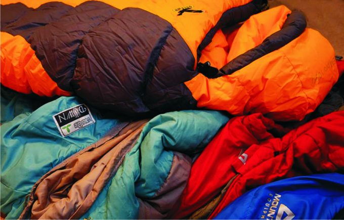 many-sleeping-bags