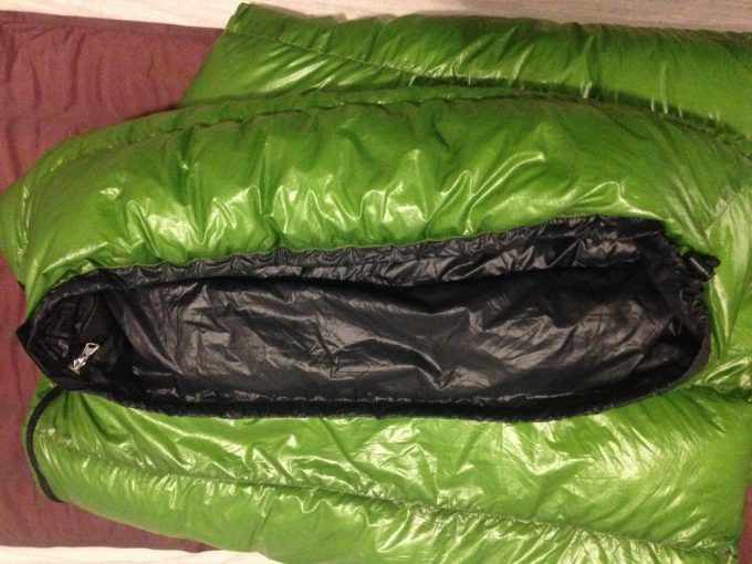 mityLite sleeping bag folded