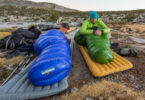 mitylite sleeping bag in nature camping