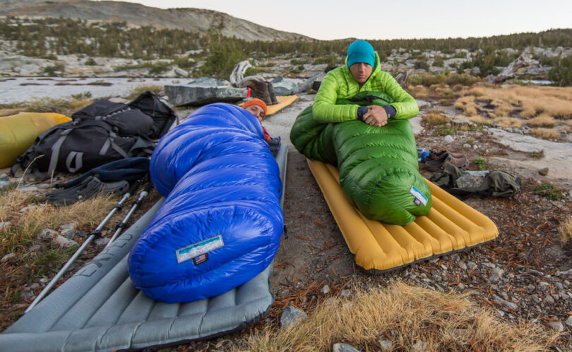 mitylite sleeping bag in nature camping