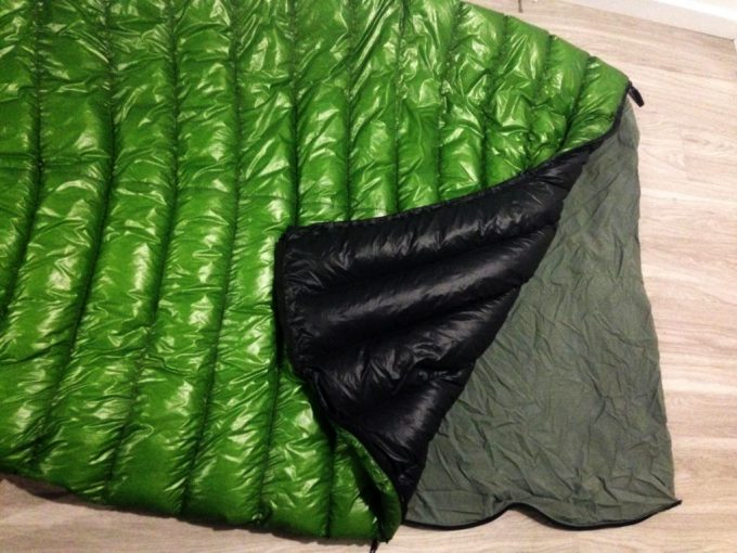 mitylite sleeping bag on floor