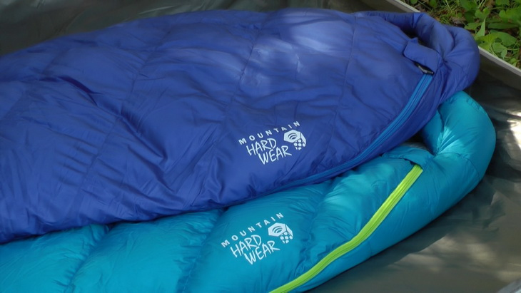 Image of two mountain hardwear sleeping bags