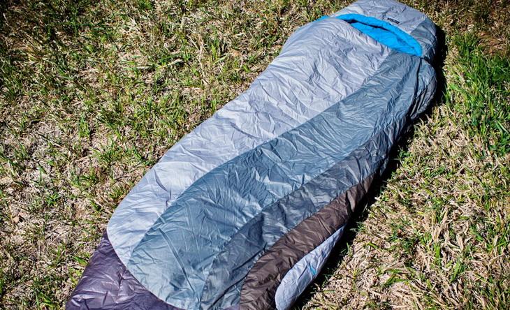 nemo-sleeping-bag-laying on the grass