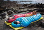 Two aduls sleeping outside in Nemo sleeping bags