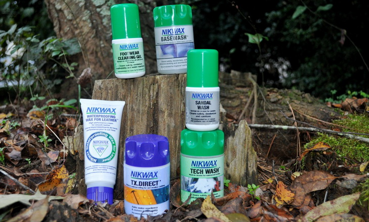 nikwax waterproofing and cleaning products
