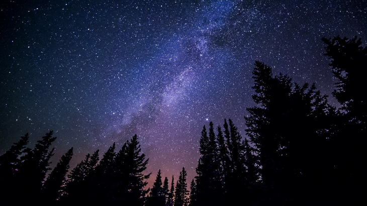Milky Way seen by camping in the forest